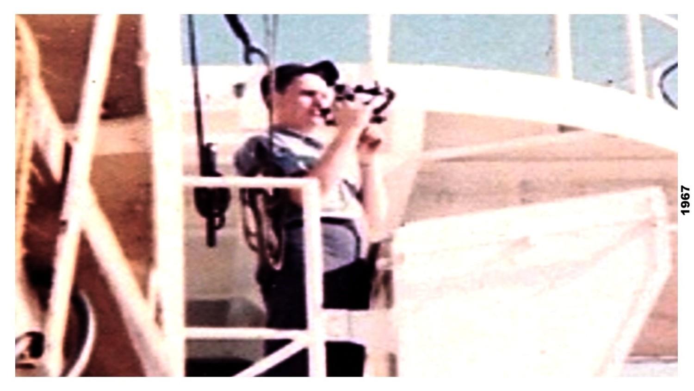 madrona shooting horizontal sextant angles to set buoy feb 1967-