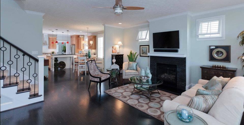 Custom beach house with open floor plan in Hampton, VA, by licensed Virginia Peninsula home builder Edgerton Contracting, Inc