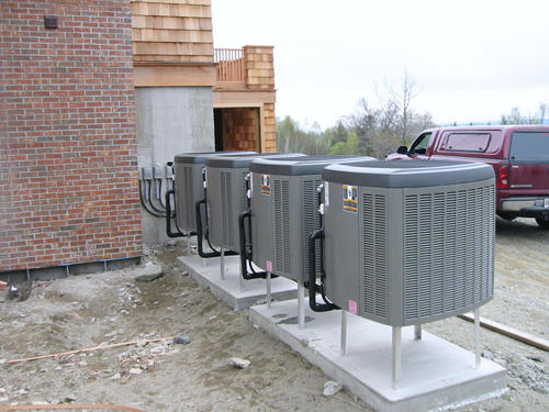 Four Heat Pumps in Bayside
