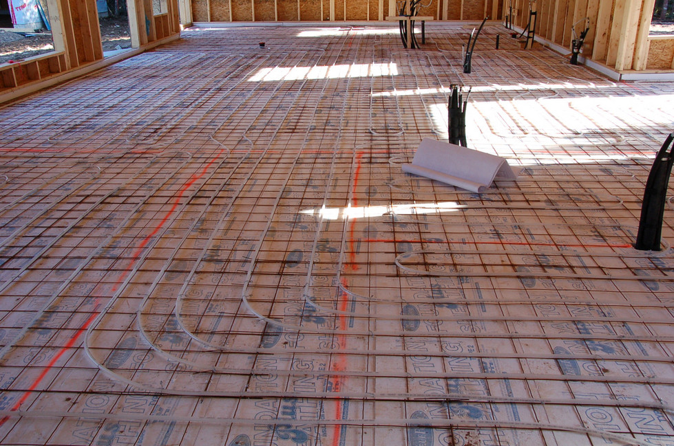 Radiant floor tubing layout-Quispamsis