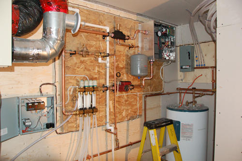 Radiant floor heating system and controls-St. Andrews