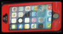 Red Waterproof Case for Apple Iphone 5/5s