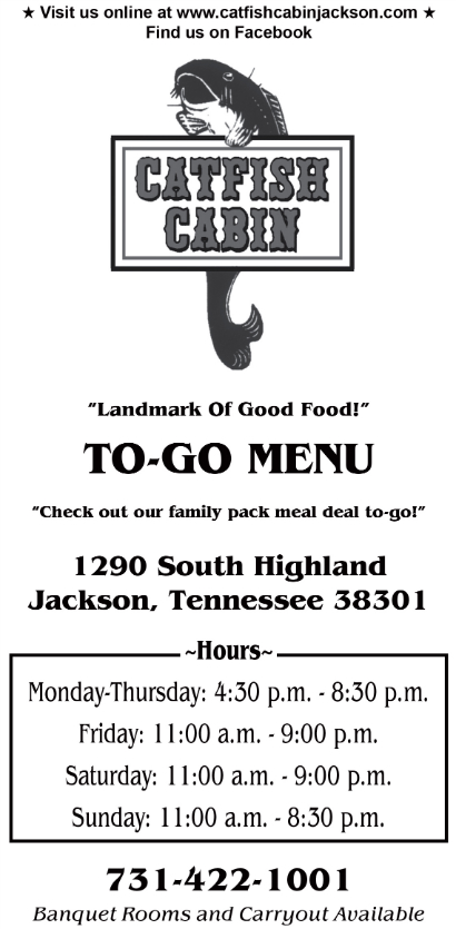 restaurant to go menu